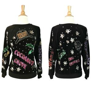 RARE Vintage 80s Iconic Hollywood Beaded Sweater
